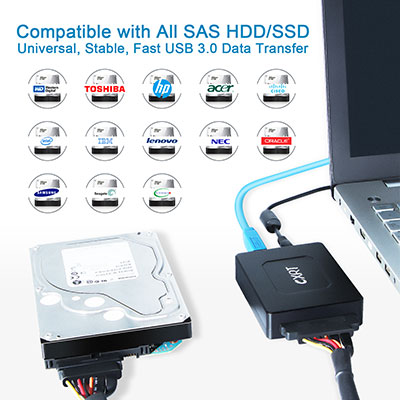 SAS Drive to USB 3.0 Adapter Converter Universal SAS Reader Writer